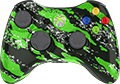 Green Sparkle Splatter