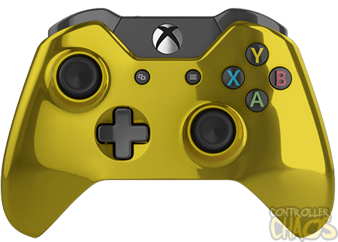 "Gold thunder"" xbox one modded controller."
