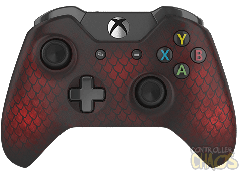 Fire Dragon Xbox One Custom Controllers Controller Chaos